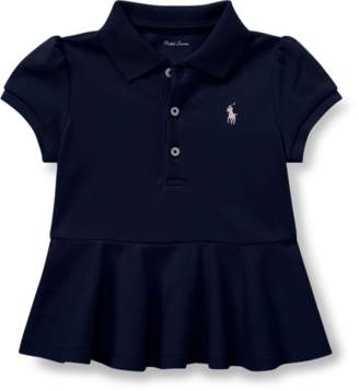 Ralph Lauren Cotton Pique Peplum Polo Shirt
