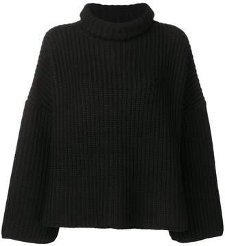 Joseph roll-neck flared sweater
