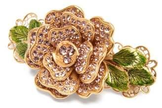 Dolce & Gabbana Rose Crystal Flower Hair Clip - Womens - Gold