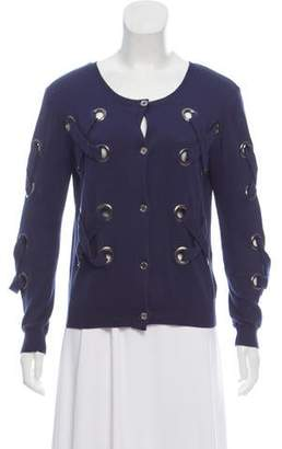 Opening Ceremony Lace-Up Button-Up Cardigan