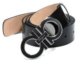 Salvatore Ferragamo Adjustable Shiny Box Belt $360 thestylecure.com