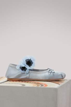 Miu Miu Flower ballet pumps