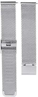 RumbaTime 27921 16mm Lafayette Mesh Bracelet Stainless Steel Watch Bracelet
