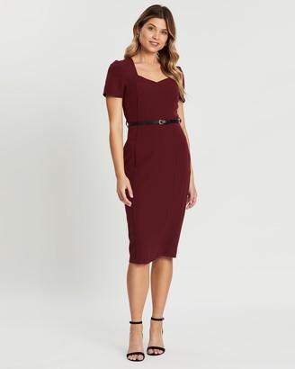 Dorothy Perkins Damson Belted Dress
