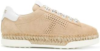 Tod's lace-up espadrille sneakers