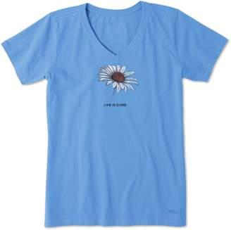 Life is Good Daisy Crusher V-Neck Shirt