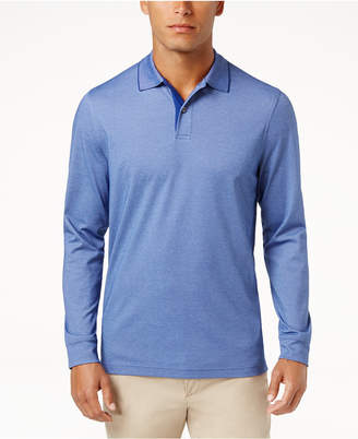 Tasso Elba Men's Supima® Blend Long-Sleeve Polo, Created for Macy's