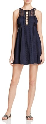 Free People Wherever You Go Mini Dress $128 thestylecure.com