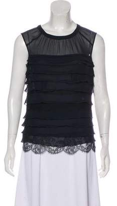 Nina Ricci Sleeveless Ruffle Top