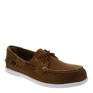 Women's Brown Leather Litesides Two Eye Boat Shoes