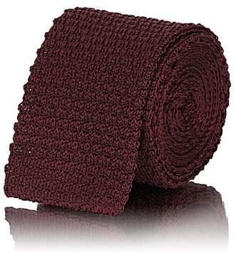 Alexander Olch Men's Knit Silk Necktie - Red