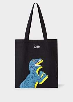 Paul Smith Black 'Dino' Printed Canvas Tote Bag