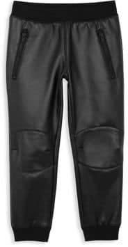 True Religion Little Boy's& Boy's Zippered Moto Pants