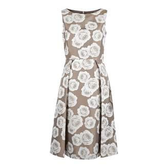 Beige/White Veronica Dress