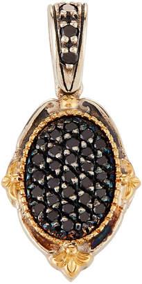 Konstantino Asteri Petite Pave Black Diamond Oval Pendant
