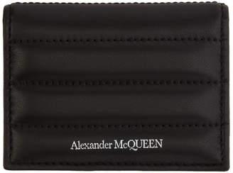 Alexander McQueen Black Padded ID Card Holder