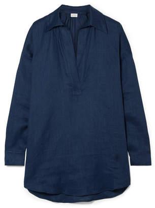 Pour Les Femmes - Juliet Linen Pajama Top - Navy