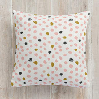 Painted Dots Square Pillow