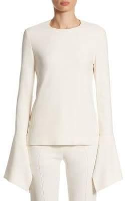 Victoria Beckham Flare-Sleeve Top