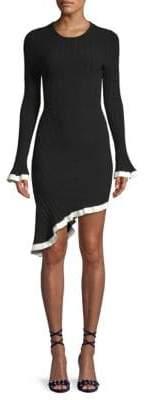 Ronny Kobo Dafne Ribbed Asymmetrical Dress
