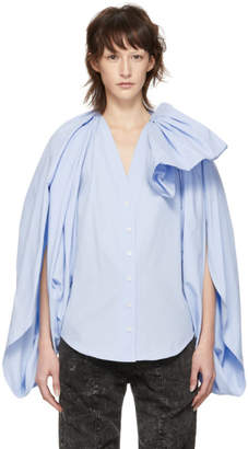 Y/Project Blue Bow Blouse