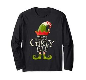 Girly Elf Family Matching Group Christmas Gift Women Girls Long Sleeve T-Shirt
