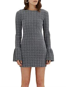 By Johnny Sparkle Pleat Frill Mini Dress