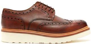 Grenson Archie Raised Sole Leather Oxford Brogues - Mens - Brown