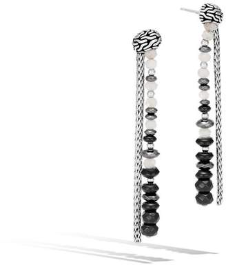 John Hardy Classic Chain Drop Earring With Mixed Black And White