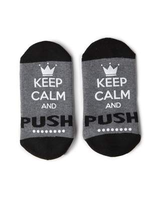 Motherhood Maternity Keep Calm And Push Hospital Sock