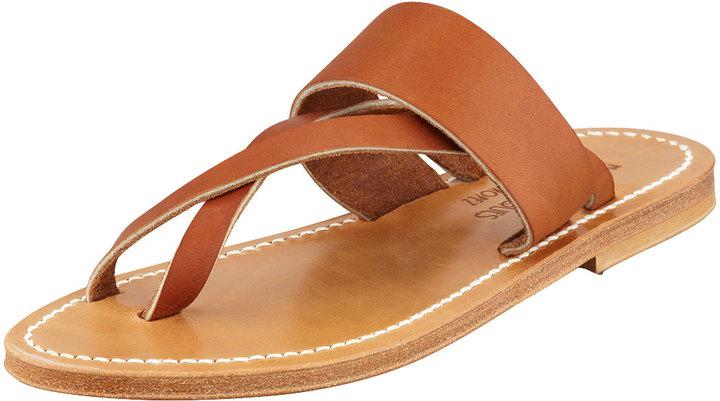K. Jacques Crisscross Flat Thong Sandal