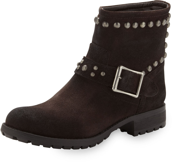 Kelsi Dagger Max Studded Boot, Dark Brown