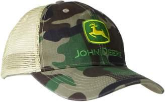 John Deere Men's Camo Mesh Back Logo Core Baseball Cap