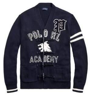 Polo Ralph Lauren Regular Fit Cotton Letterman Cardigan