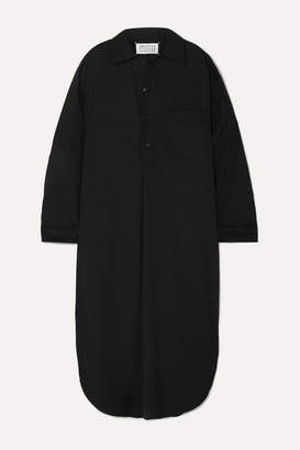 Maison Margiela Oversized Wool-blend Dress - Black