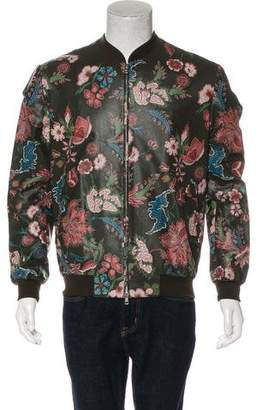 Gucci Floral Leather Bomber Jacket w/ Tags