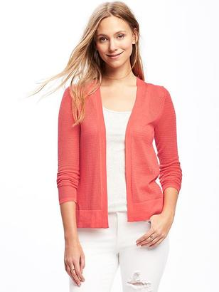 Textured Classic Open-Front Cardi for Women $29.94 thestylecure.com