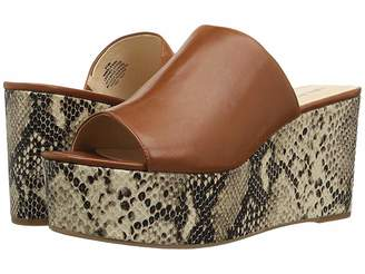 Nine West Kelsawn Platform Wedge Slide Sandal Women's Wedge Shoes