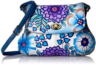 Anuschka Anna by Handpainted Leather Medium Flap Cross Body-