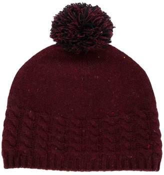 N.Peal pom-pom beanie hat
