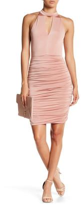 Soprano Ruched Halter Dress $56 thestylecure.com