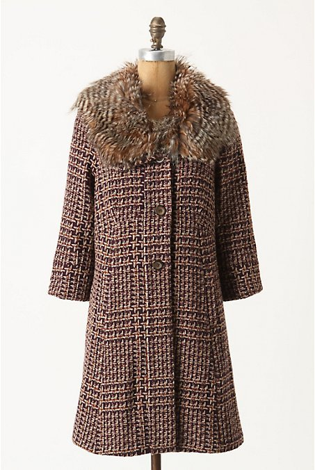 Umbered Houndstooth Coat