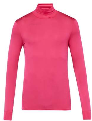 Raf Simons Roll Neck Stretch Jersey Sweater - Mens - Pink
