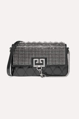 Givenchy Charm Crystal-embellished Quilted Leather Shoulder Bag - Black