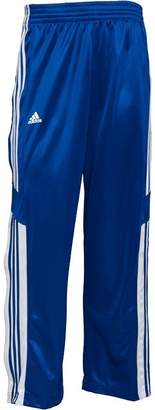 adidas Mens 3 Stripe Warm Up Popper Basketball Track Pants Core Royal/White