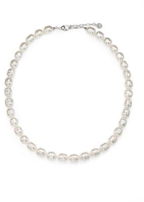 Majorica 12MM White Baroque Pearl Strand Necklace/26""