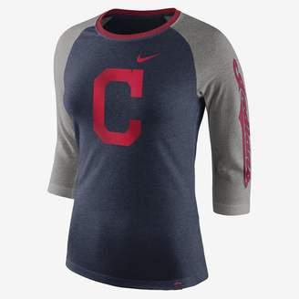 Nike Tri-Blend Raglan (MLB Indians) Women's 3/4 Sleeve Top