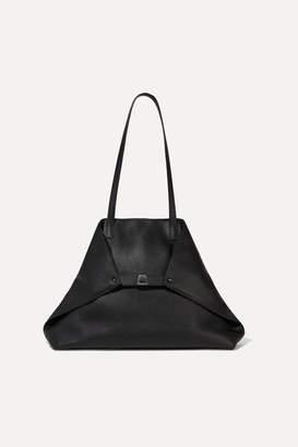 Akris Ai Medium Textured-leather Tote - Black