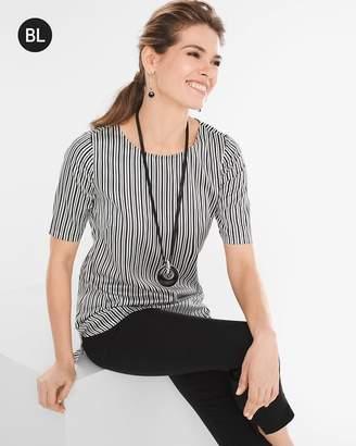 Black Label Striped Silk Tee
