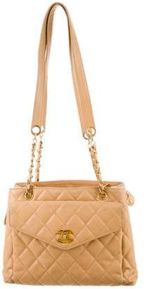 Chanel Caviar Front Pocket Shopper Tote
